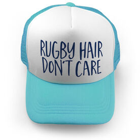 Rugby Trucker Hat - Rugby Hair Don't Care