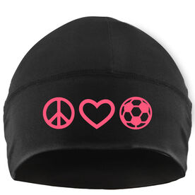 Beanie Performance Hat - Peace Love Soccer