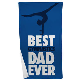 Gymnastics Beach Towel Best Dad Ever