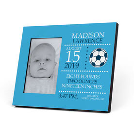 Soccer Photo Frame - Birth Announcement