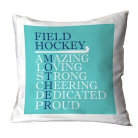 Field Hockey Throw Pillow - Mother Words