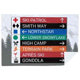 Skiing & Snowboarding Premium Blanket - Custom Sign