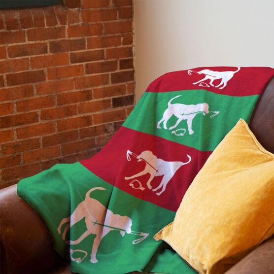 Skiing Premium Blanket - Dog Fan