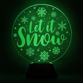 Acrylic LED Lamp - Let It Snowflakes