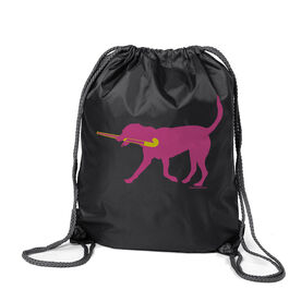 Field Hockey Sport Pack Cinch Sack Fetch the Field Hockey Dog