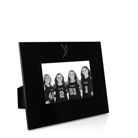 Girls Lacrosse Engraved Picture Frame - Girl Player