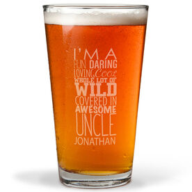Personalized 16 oz. Beer Pint Glass - That's My Uncle