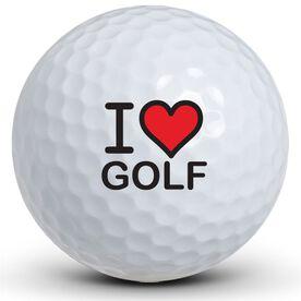 I Heart Golf Golf Balls