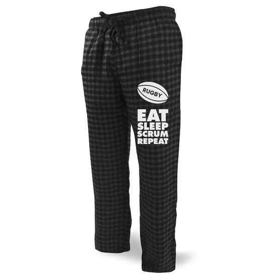 Rugby Lounge Pants Eat Sleep Scrum Repeat
