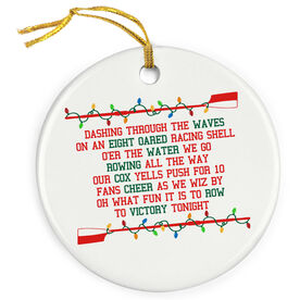 Crew Porcelain Ornament A Rower's Jingle All The Way