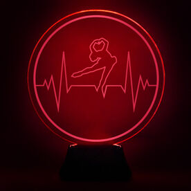 Figure Skating Acrylic LED Lamp Skate Heartbeat
