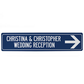 "Personalized Aluminum Room Sign - Reception Sign (4""x18"")"