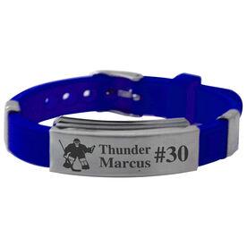 Personalized Hockey Goalie (M) Silicone Bracelet