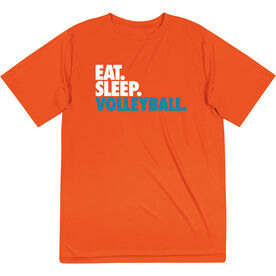 Volleyball Short Sleeve Performance Tee - Eat. Sleep. Volleyball.