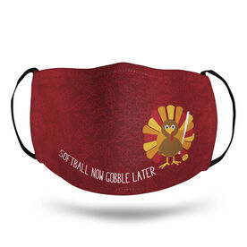 Softball Face Mask - Softball Now Gobble Later