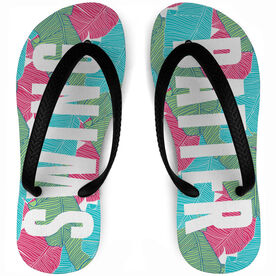 Softball Flip Flops Swing Batter Paradise