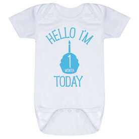 Personalized Baby One-Piece - Hello I'm (Age) Today
