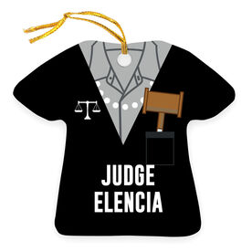 Personalized Ornament - Judge Robes Shirt and Pearls