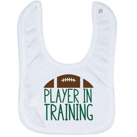 Football Baby Bib - Player In Training