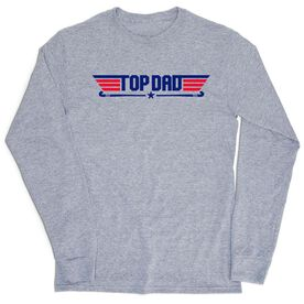 Field Hockey Tshirt Long Sleeve - Top Dad Field Hockey