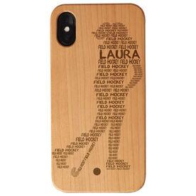 Field Hockey Engraved Wood IPhone® Case - Words