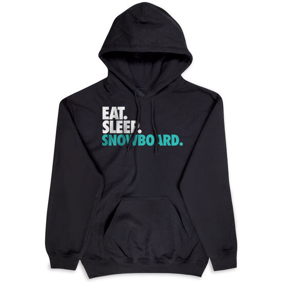 Skiing & Snowboarding Hooded Sweatshirt - Eat. Sleep. Snowboard.