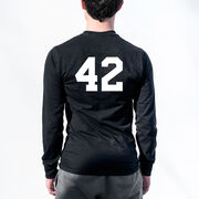 Guys Lacrosse Tshirt Long Sleeve - My Goal Is To Deny Yours Defenseman
