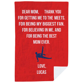 Gymnastics Premium Blanket - Dear Mom Heart (Guy Gymnast)