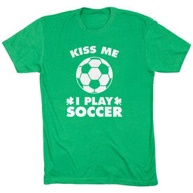 Soccer Tshirt Short Sleeve Kiss Me I Play Soccer