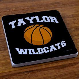 Basketball Stone Coaster Personalized Basketball