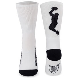 Basketball Woven Mid-Calf Socks - Player (White/Black)