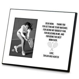 Tennis Photo Frame - Dear Mom Heart