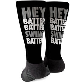 Baseball Printed Mid-Calf Socks - Hey Batter