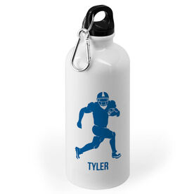 Football 20 oz. Stainless Steel Water Bottle - Football Runningback Silhouette