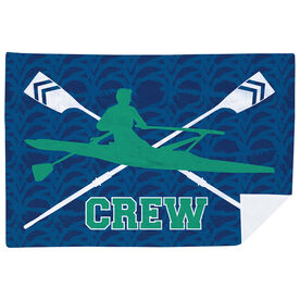 Crew Premium Blanket - Crew With Crossed Oars And Guy Rower