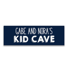 "Personalized 12.5"" X 4"" Removable Wall Tile - Kid Cave"