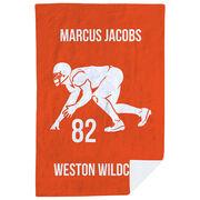 Football Premium Blanket - Personalized Linebacker