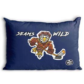 Seams Wild Hockey Pillowcase - Feather Shot
