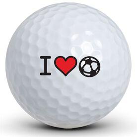 I Heart Soccer Golf Balls
