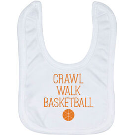 Basketball Baby Bib - Crawl Walk Basketball