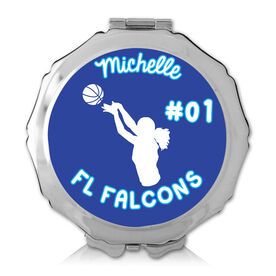 Personalized Basketball Girl Color Compact Mirror