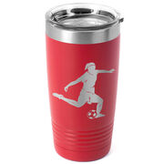 Soccer 20 oz. Double Insulated Tumbler - Female Silhouette