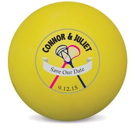 Personalized Save The Date Lacrosse Ball (Yellow Ball)