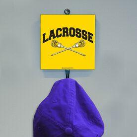 Guys Lacrosse Hook - Word & Crossed Sticks