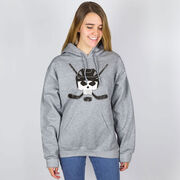 Hockey Hooded Sweatshirt - Hockey Helmet Skull
