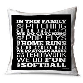 Softball Throw Pillow Softball We Do Softball