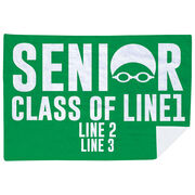 Swimming Premium Blanket - Personalized Swimming Senior Class Of