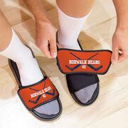 Hockey Repwell® Slide Sandals - Personalized Goalie Crossed Sticks