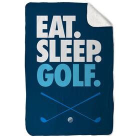 Golf Sherpa Fleece Blanket - Eat. Sleep. Golf. Vertical