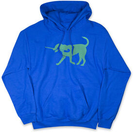 Field Hockey Hooded Sweatshirt - Field Hockey Dog